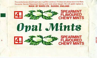 "Opal mints & fruits, ""made to make your mouth water""!"