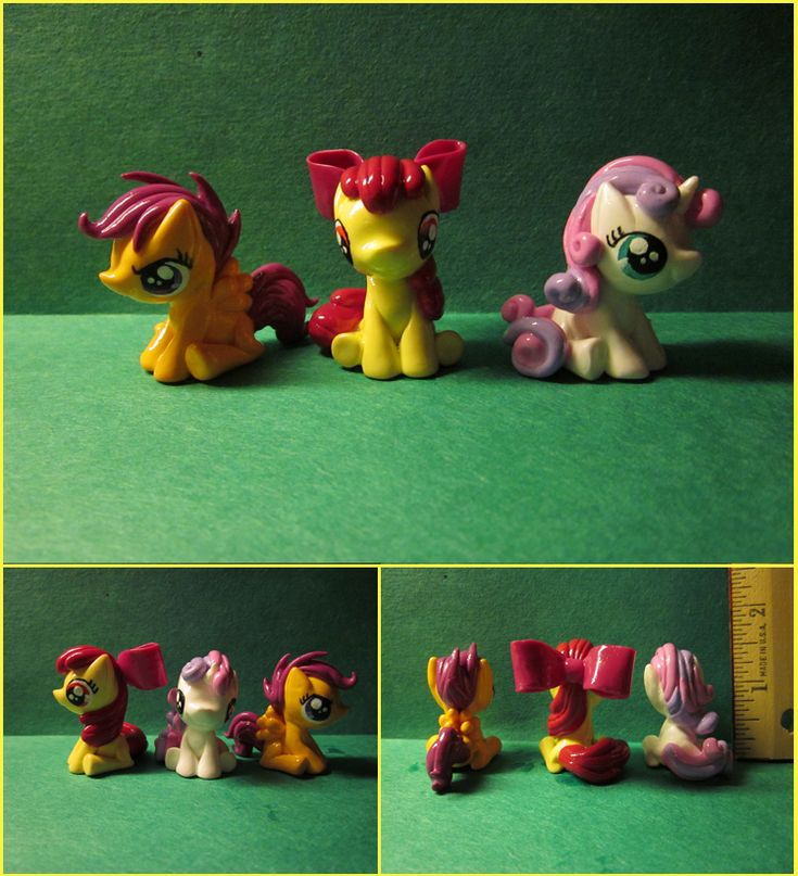 Mini Sculpts Commission: The Cutie Mark Crusaders by *minnichi on deviantART