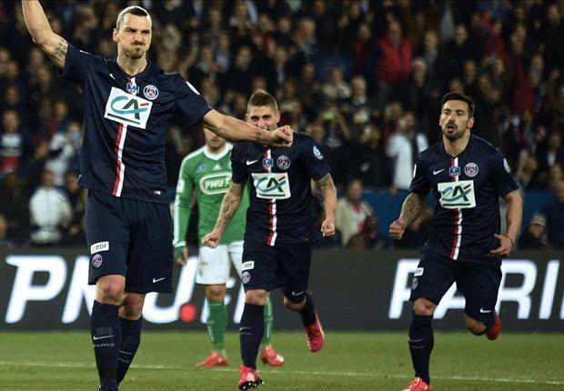 PSG in finala Cupei Frantei dupa 4-1 cu St Etienne. Hattrick Ibrahimovic!