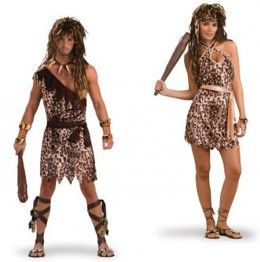 Best Couples Costume Ideas | The Cave Man and Cave Woman Couples Costume
