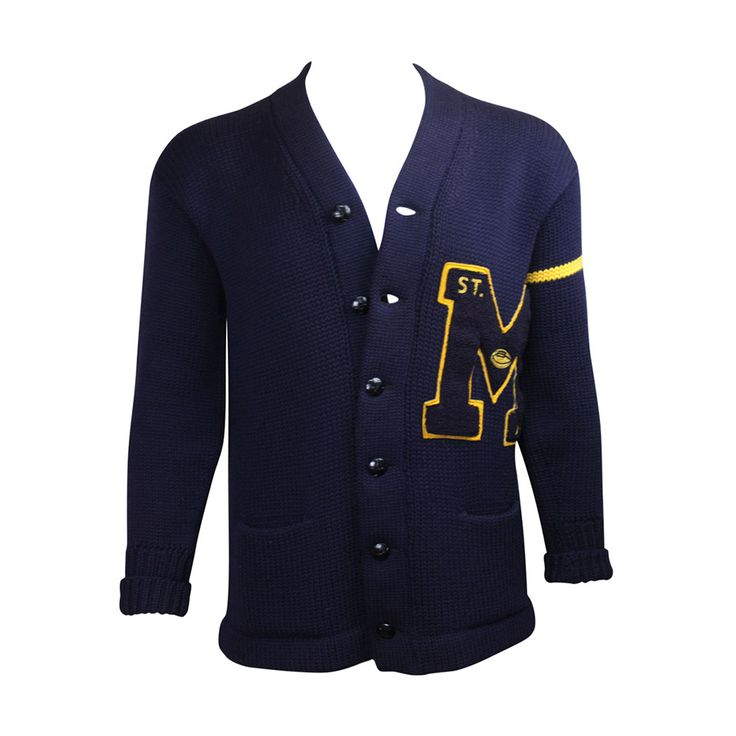 1959 Men's Wool Varsity Sweater | From a collection of rare vintage sportswear at https://www.1stdibs.com/fashion/clothing/sportswear/