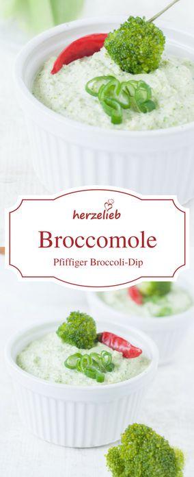 Dip Rezepte: Rezept für einen sensationelll guten Broccoli-Dip. Passt perfekt zu selbstgemachten Brotchips, zu Gemüse, Fleisch, Fisch und vielem mehr! Wozu würdet ihr die Broccomole essen? Zum Grillen ideal - Rezept von herzelieb