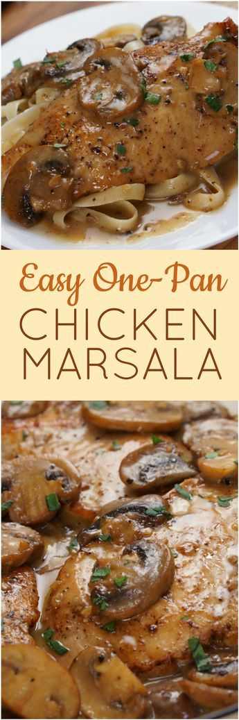 Treat your family to Sicilian-inspired chicken breasts braised in a velvety Marsala wine reduction sauce with sautéed mushrooms and garlic in just 30 minutes.