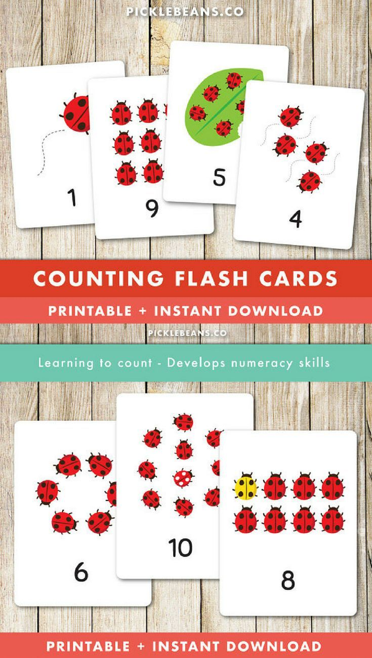 Printable Counting Flash Cards for Preschoolers and Early Childhood Education #ad #flashcards #counting #education #learn #learning #teach #teacher #teaching #montessori #preschool #preschoolers #preschoollearning #preschoollife #kindergarten #earlyyears #printable #download #downloadandprint