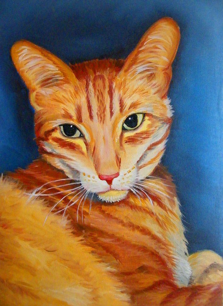 my cat filutek - oil painting