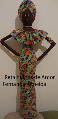 Boneca Africana em tecido Mais