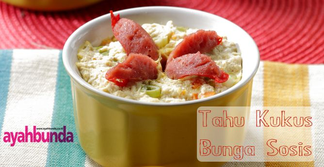 Tahu Kukus Bunga Sosis :: Steamed Tofu with Sausage Flower