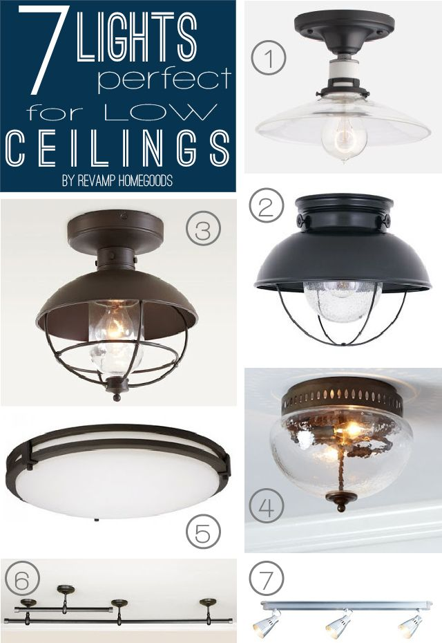 7 Lighting Fixtures for Low & Shallow Ceilings - to replace broken one next  to stairs?