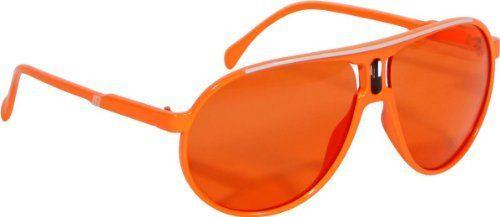 Scarface Sunglasses Sonnenbrille Brille Neon Orange Disco 80er DJ