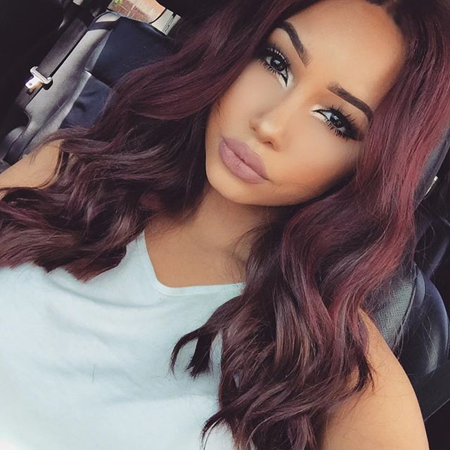 Burgundy Hair Color On Dark Skin In 2016 Amazing Photo ...