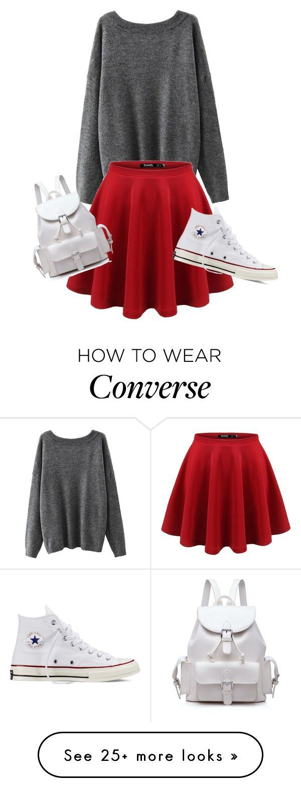 """""""Classic Teen"""" by sunzy9 on Polyvore featuring Converse"""