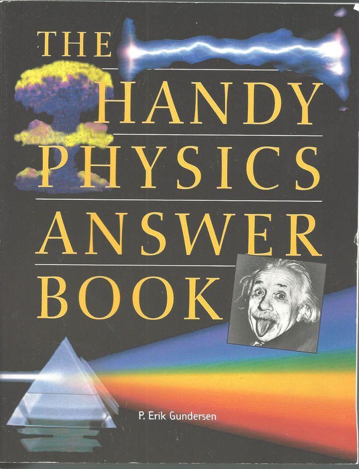 Handy Physics Answer Book Nursing 1999 CollegeTextbook Used  Erik Gunderson #Textbook