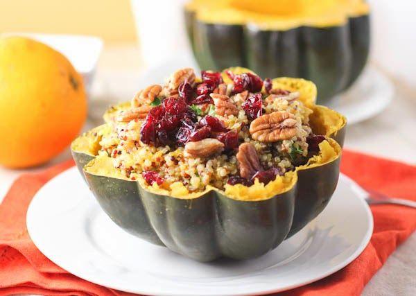 Courge poivrée farcie au quinoa à l'orange | Le guide de la femme parfaite