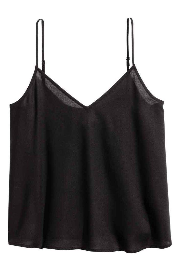 Top na ramiączkach - Czarny - ONA | H&M PL