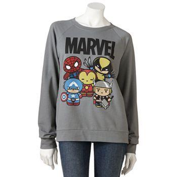 Mighty Fine Marvel Comics Sweatshirt - Juniors