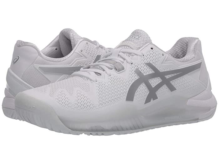 Asics Gel Resolution 8 White Pure Silver Men S Tennis Shoes Make Your Performance Goals A Reality With The Asics Gel Res In 2020 Mens Tennis Shoes Tennis Shoes Asics