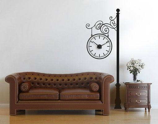 Wandtattoo #Uhr No.CG158 Laterne #Wantattoo #Wantatoo #Wandsticker #Wandaufkleber #selbstklebendes #Wandbild #Wandgestaltung #Bahnhofsuhr