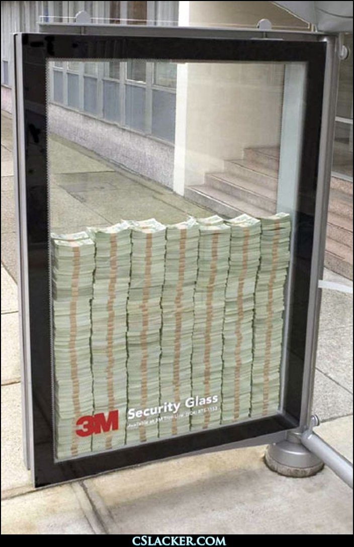 now there's one way to make an impression! 3M Safety Glass
