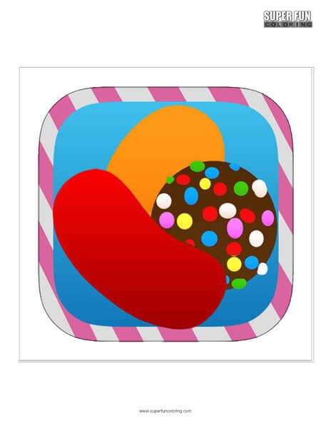 Candy Crush App Coloring Page Android