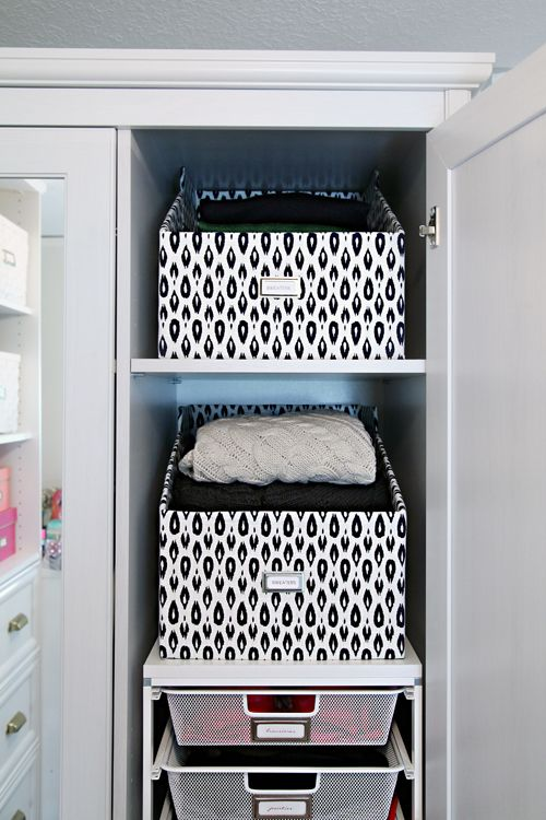 IHeart Organizing: DIY Sweater Boxes