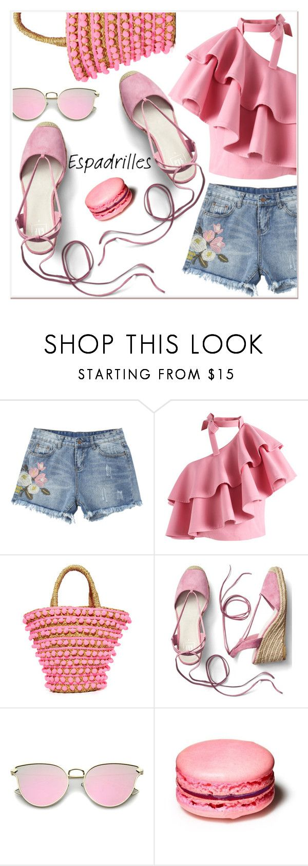 """""""Summer Espadrilles"""" by poopsie-plopsie ❤ liked on Polyvore featuring Chicwish, Mystique and Gap"""