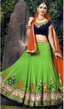 Lime #Green Color #Georgette A Line Style Chaniya Choli   FH487274901 #heenastyle, #designer, #lehengas, #choli, #collection, #women, #online, #wedding , #Bollywood, #stylish, #indian, #party, #ghagra, #casual, #sangeet, #mehendi, #navratri, #fashion, #boutique, #mode, #henna, #wedding, #fashion-week, #ceremony, #receptions, #ring , #dupatta , #chunni , @heenastyle , #Circular , #engagement