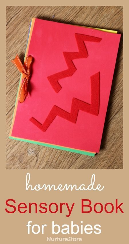 Homemade DIY senosry book for babies - simple to make instructions and a lovely gift.