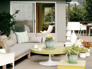 Retro Round tableDecks Ideas, Living Rooms, Decks Design, Outdoor Lounges, Outdoor Living Room, Master Bedrooms, Outdoor Room, Outdoor Spaces, Backyards