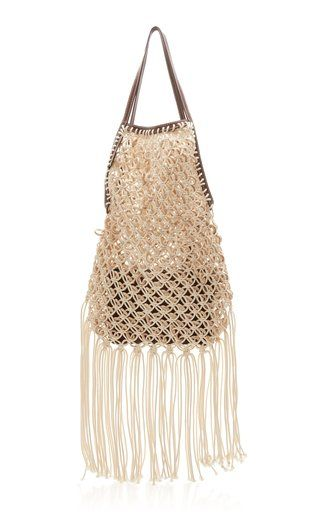 d6c6008543ca String Leather and Macramé Bag by JW Anderson SS19