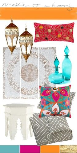 Moroccan decor..elements and colors