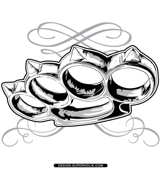 BRASS KNUCKLE vector