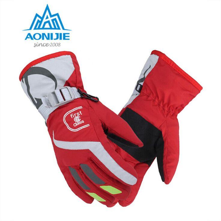 AONIJIE Women Men Windproof waterproof Warm Cycling Ski Snow Snowmobile Motorcycle snowboard Skiing Gloves Winter Outdoor Sports #Affiliate