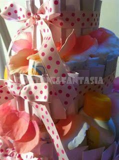 Bottoni&Fantasia: Torte di pannolini tutte al femminile!!