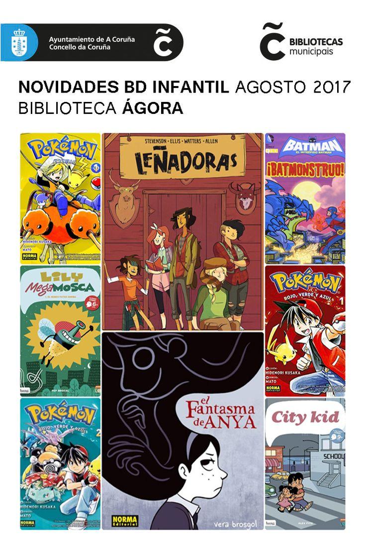 Últimas incorporacións de cómic á sala infantil da Biblioteca Municipal Ágora. Dispoñibles para levar en préstamo dende xa!