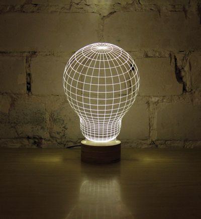 Bulbing lampe led à effet 3d 9995€