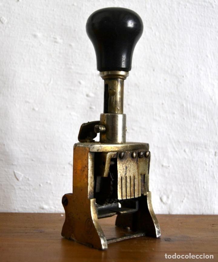 Escribanía: SELLO TAMPON NUMERADOR FECHADOR * EIBAR EL CASCO - Foto 5 - 89091932