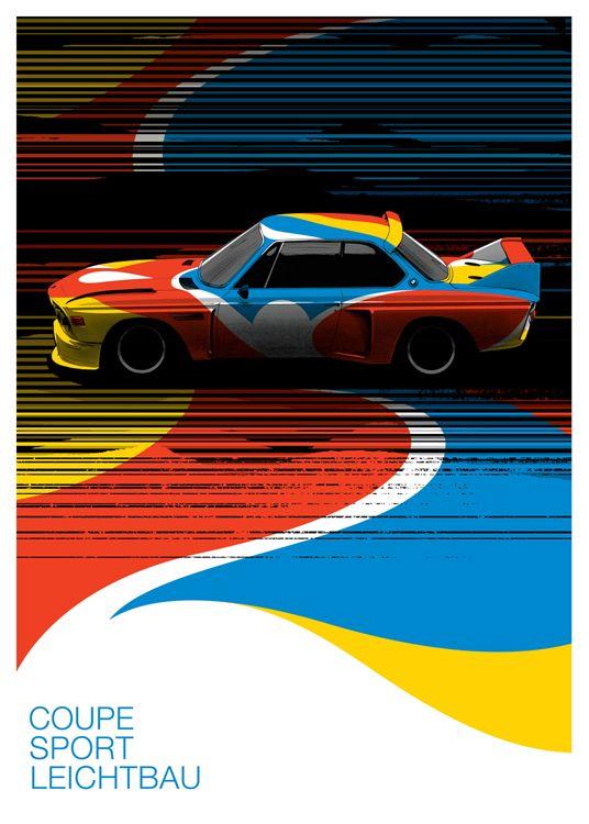 BMW 3.0 CSL (Calder Edition) print by Guy Allen