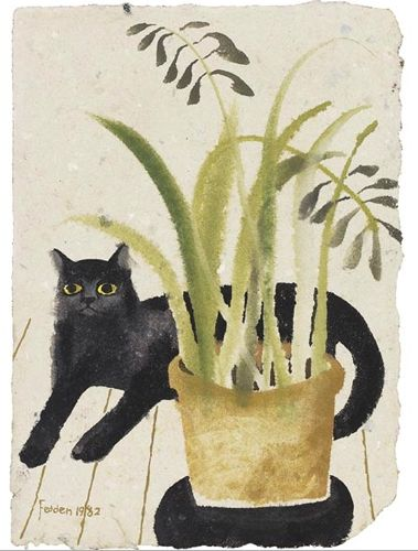 mary feddon.: Plants Can, Cat Art, Mary Feddon, Animal Paintings, Art Prints, Artists Mary, Art Cat, Black Cat, Mary Fedden