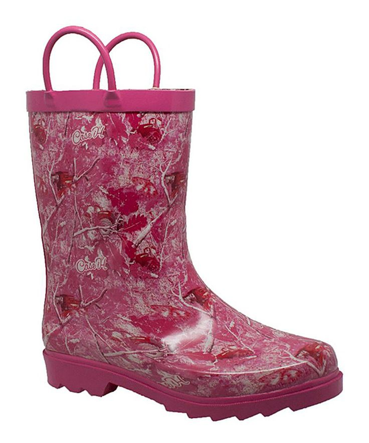 Look at this #zulilyfind! Case IH Agriculture Pink Camo Tractor Rain Boot by Case IH Agriculture #zulilyfinds