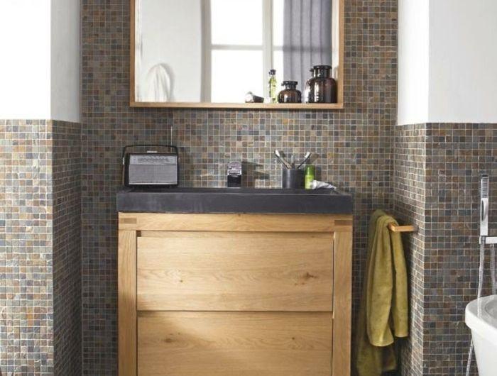 Salle de bain zen jouez la carte du meuble en bois avec - Faience salle de bain zen ...