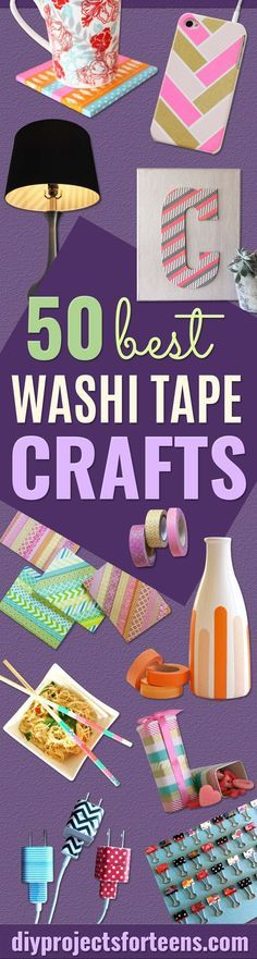 Washi Tape Crafts - DIY Projects Made With Washi Tape - Wall Art, Frames, Cards, Pencils, Room Decor and DIY Gifts, Back To School Supplies - Creative, Fun Craft Ideas for Teens, Tweens and Teenagers - Step by Step Tutorials and Instructions http://diyprojectsforteens.com/washi-tape-ideas  https://www.djpeter.co.za