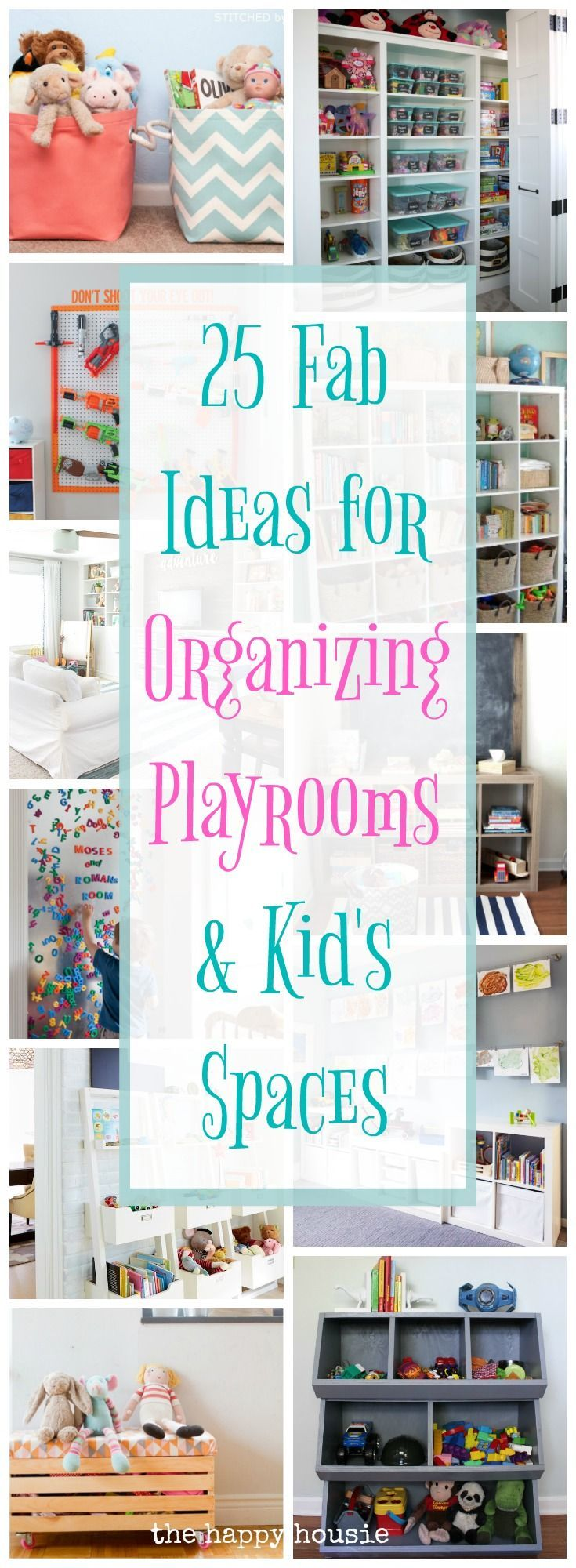 25 Fab Ideas for Organizing Playrooms & Kid's Spaces. Great ideas to get all the kids stuff organized.