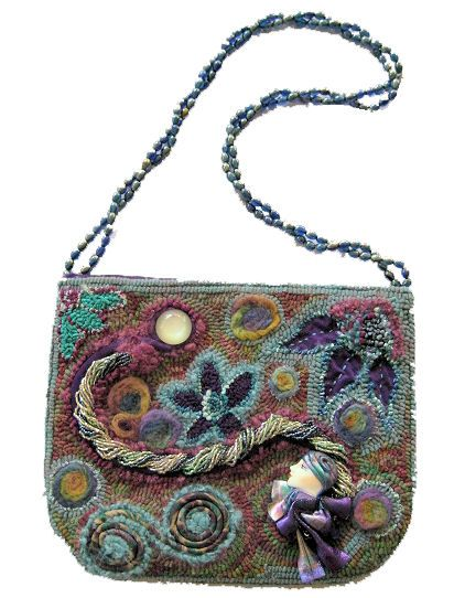 Peggy Hannum purse. She has amazing talent with wool art!  Stunning!