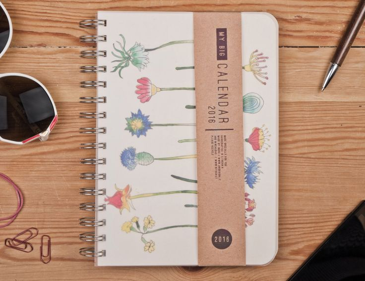 2016 Year Weekly Life Planner Academic Calendar Diary Agenda Day Spiral A5 Floral Flower Calendrier Kalenteri Journal - Best New Year gift ! by TheBigCalendar on Etsy https://www.etsy.com/listing/169957188/2016-year-weekly-life-planner-academic