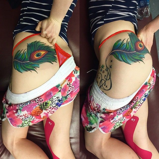 35 Colorful Peacock Feather Tattoo Meaning & Designs
