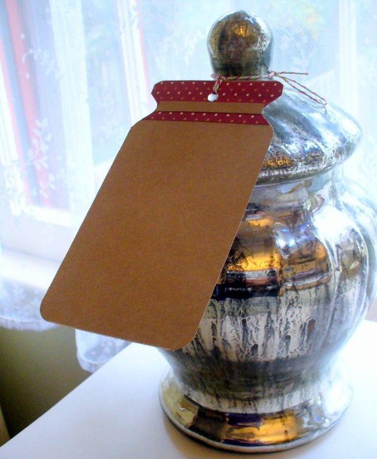 Mason Jar, Christmas Gift Tags, Recipe Hang Tag, Jelly Jar