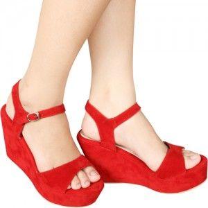Sandal Wedges Leia Merah IDR212.000 SKU Latvia 1212 Size 36-40  Hubungi Customer Service kami untuk pemesanan : Phone / Whatsapp : 089624618831 Line: Slightshoes Email : order@slightshop.com