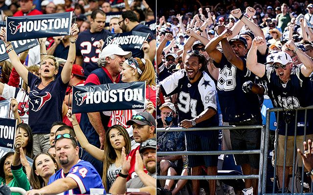 Houston & Dallas Police Departments Trade Twitter Barbs Ahead of Texans vs. Cowboys Game.