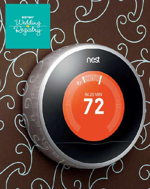 There's so much to learn now about your new life with the person you know. Every quirk, habit, and preference. Let the Nest thermostat learn your perfect temperature and keep you comfortable while saving energy as you continue to learn about each other.