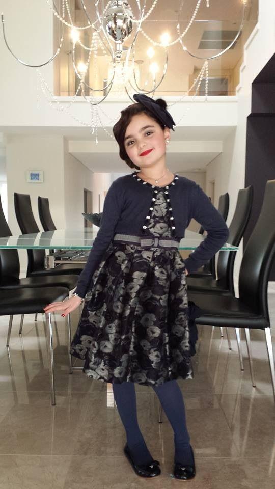 Love the elegance of this look beautiful customer dressed in Monnalisa chic❤❤